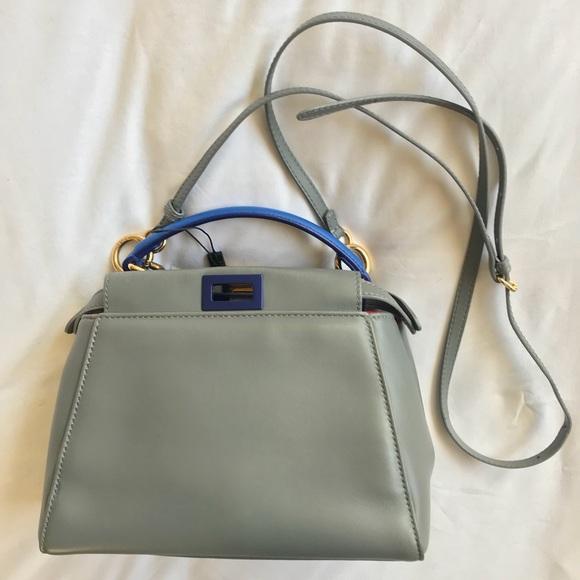 f5bee04b7c Fendi Handbags - Fendi Peekaboo Mini Tricolor Satchel Crossbody Bag